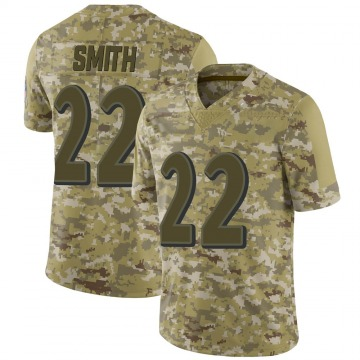 Youth Nike Baltimore Ravens Jimmy Smith Camo 2018 Salute to Service Jersey - Limited