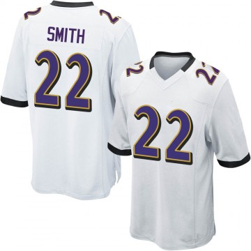 Youth Nike Baltimore Ravens Jimmy Smith White Jersey - Game