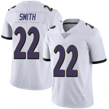 Youth Nike Baltimore Ravens Jimmy Smith White Vapor Untouchable Jersey - Limited