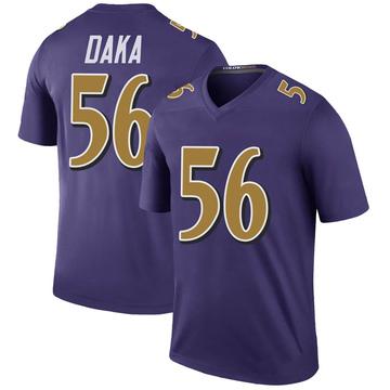 Youth Nike Baltimore Ravens John Daka Purple Color Rush Jersey - Legend