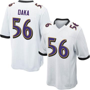 Youth Nike Baltimore Ravens John Daka White Jersey - Game