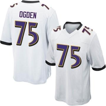 Youth Nike Baltimore Ravens Jonathan Ogden White Jersey - Game
