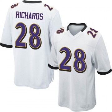 Youth Nike Baltimore Ravens Jordan Richards White Jersey - Game