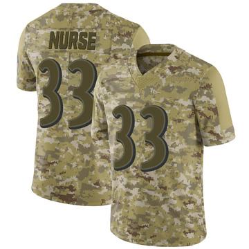 Youth Nike Baltimore Ravens Josh Nurse Camo 2018 Salute to Service Jersey - Limited