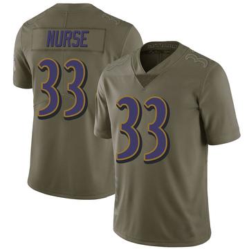 Youth Nike Baltimore Ravens Josh Nurse Green 2017 Salute to Service Jersey - Limited