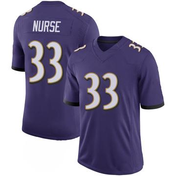 Youth Nike Baltimore Ravens Josh Nurse Purple 100th Vapor Jersey - Limited