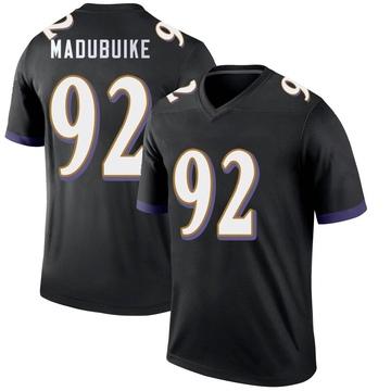 Youth Nike Baltimore Ravens Justin Madubuike Black Jersey - Legend