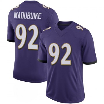 Youth Nike Baltimore Ravens Justin Madubuike Purple 100th Vapor Jersey - Limited