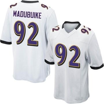 Youth Nike Baltimore Ravens Justin Madubuike White Jersey - Game