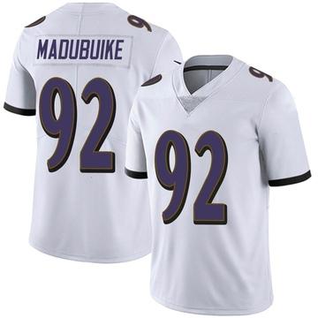 Youth Nike Baltimore Ravens Justin Madubuike White Vapor Untouchable Jersey - Limited