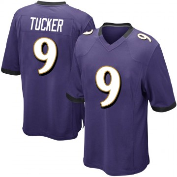 Youth Nike Baltimore Ravens Justin Tucker Purple Team Color Jersey - Game