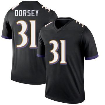 Youth Nike Baltimore Ravens Khalil Dorsey Black Jersey - Legend