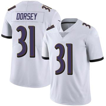 Youth Nike Baltimore Ravens Khalil Dorsey White Vapor Untouchable Jersey - Limited