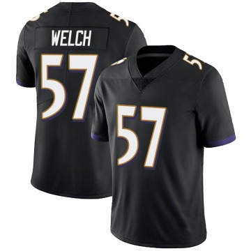 Youth Nike Baltimore Ravens Kristian Welch Black Alternate Vapor Untouchable Jersey - Limited