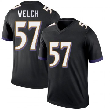 Youth Nike Baltimore Ravens Kristian Welch Black Jersey - Legend