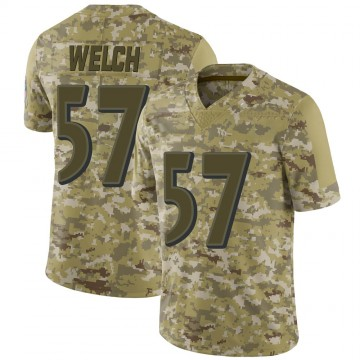 Youth Nike Baltimore Ravens Kristian Welch Camo 2018 Salute to Service Jersey - Limited