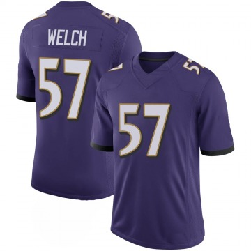 Youth Nike Baltimore Ravens Kristian Welch Purple 100th Vapor Jersey - Limited