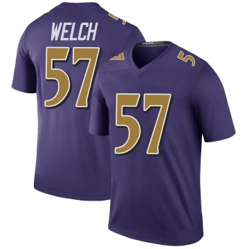 Youth Nike Baltimore Ravens Kristian Welch Purple Color Rush Jersey - Legend