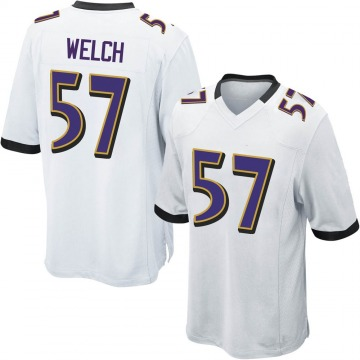 Youth Nike Baltimore Ravens Kristian Welch White Jersey - Game