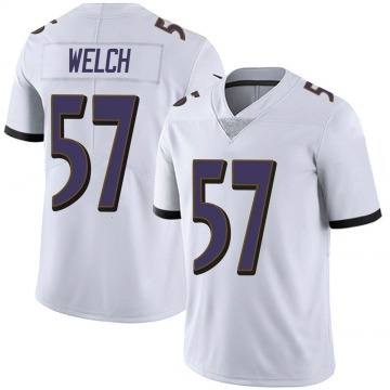 Youth Nike Baltimore Ravens Kristian Welch White Vapor Untouchable Jersey - Limited
