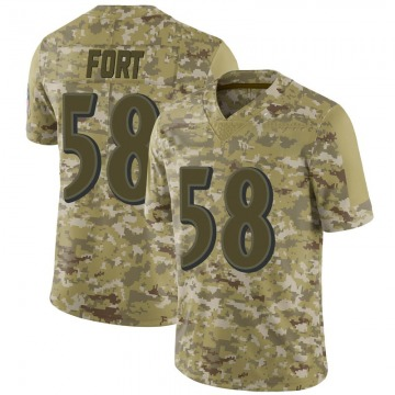 Youth Nike Baltimore Ravens L.J. Fort Camo 2018 Salute to Service Jersey - Limited