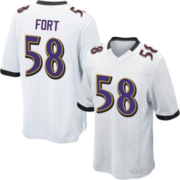 Youth Nike Baltimore Ravens L.J. Fort White Jersey - Game