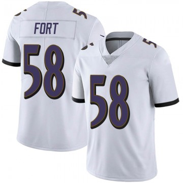 Youth Nike Baltimore Ravens L.J. Fort White Vapor Untouchable Jersey - Limited