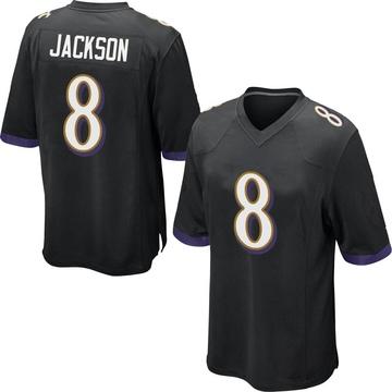 Youth Nike Baltimore Ravens Lamar Jackson Black Jersey - Game