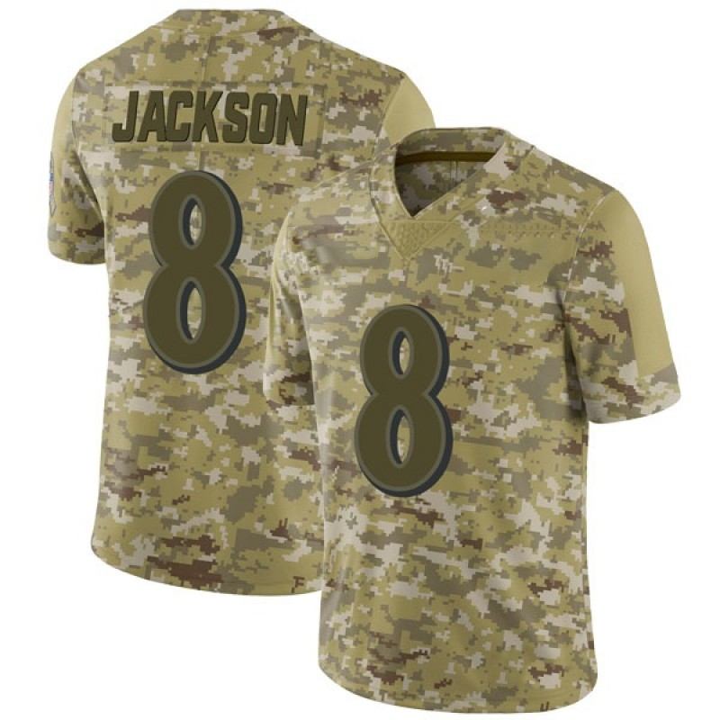 reputable site fe798 acd30 Youth Nike Baltimore Ravens Lamar Jackson Camo 2018 Salute to Service  Jersey - Limited