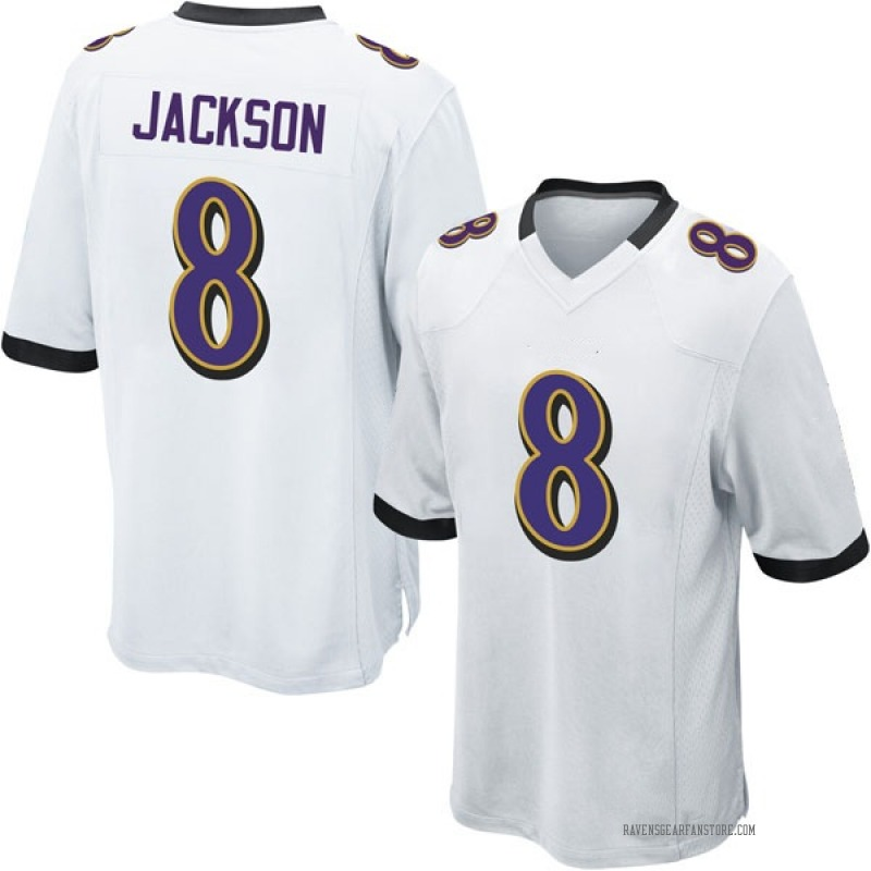 uk availability 74263 b8f16 Youth Nike Baltimore Ravens Lamar Jackson White Jersey - Game