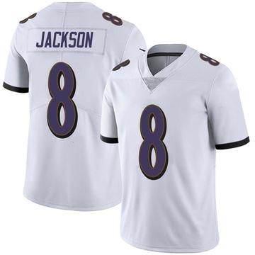 Youth Nike Baltimore Ravens Lamar Jackson White Vapor Untouchable Jersey - Limited