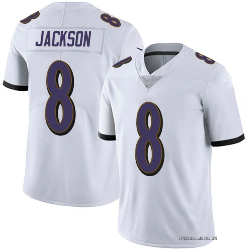 the latest 26cf2 d9b0e Youth Nike Baltimore Ravens Lamar Jackson White Vapor Untouchable Jersey -  Limited