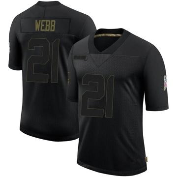 Youth Nike Baltimore Ravens Lardarius Webb Black 2020 Salute To Service Jersey - Limited