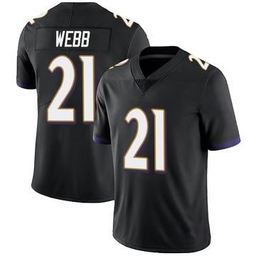 Youth Nike Baltimore Ravens Lardarius Webb Black Alternate Vapor Untouchable Jersey - Limited