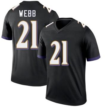 Youth Nike Baltimore Ravens Lardarius Webb Black Jersey - Legend