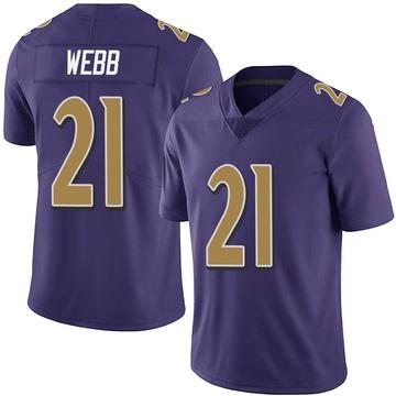 Youth Nike Baltimore Ravens Lardarius Webb Purple Team Color Vapor Untouchable Jersey - Limited