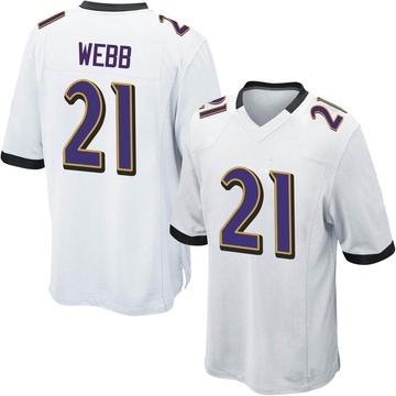 Youth Nike Baltimore Ravens Lardarius Webb White Jersey - Game