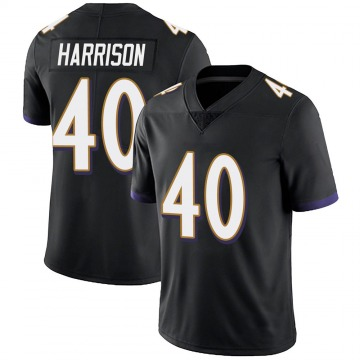 Youth Nike Baltimore Ravens Malik Harrison Black Alternate Vapor Untouchable Jersey - Limited