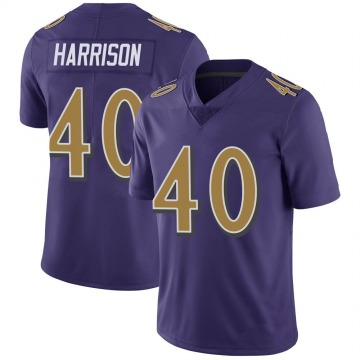 Youth Nike Baltimore Ravens Malik Harrison Purple Color Rush Vapor Untouchable Jersey - Limited