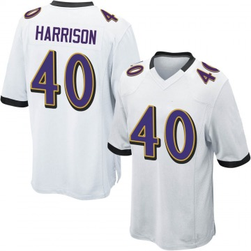 Youth Nike Baltimore Ravens Malik Harrison White Jersey - Game