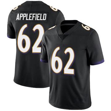Youth Nike Baltimore Ravens Marcus Applefield Black Alternate Vapor Untouchable Jersey - Limited