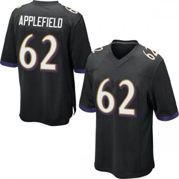 Youth Nike Baltimore Ravens Marcus Applefield Black Jersey - Game