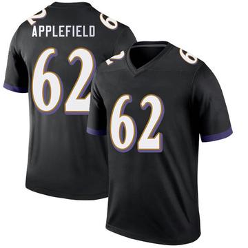 Youth Nike Baltimore Ravens Marcus Applefield Black Jersey - Legend