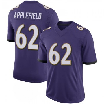 Youth Nike Baltimore Ravens Marcus Applefield Purple 100th Vapor Jersey - Limited