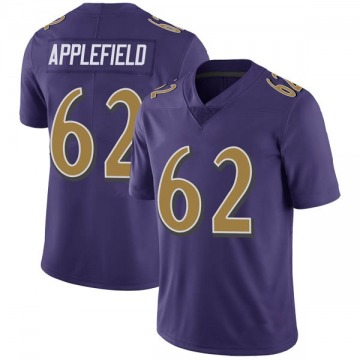 Youth Nike Baltimore Ravens Marcus Applefield Purple Color Rush Vapor Untouchable Jersey - Limited