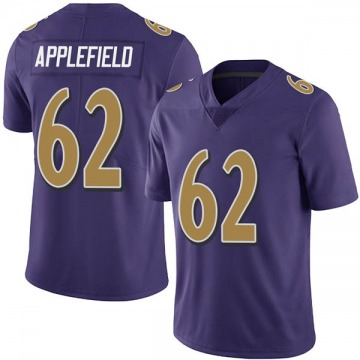 Youth Nike Baltimore Ravens Marcus Applefield Purple Team Color Vapor Untouchable Jersey - Limited