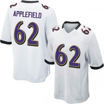 Youth Nike Baltimore Ravens Marcus Applefield White Jersey - Game