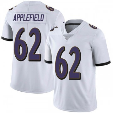Youth Nike Baltimore Ravens Marcus Applefield White Vapor Untouchable Jersey - Limited