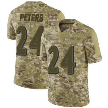 Youth Nike Baltimore Ravens Marcus Peters Camo 2018 Salute to Service Jersey - Limited