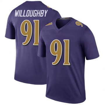 Youth Nike Baltimore Ravens Marcus Willoughby Purple Color Rush Jersey - Legend